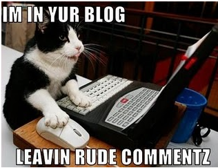 I'm in your blog