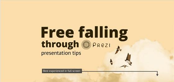 freefaling prezi