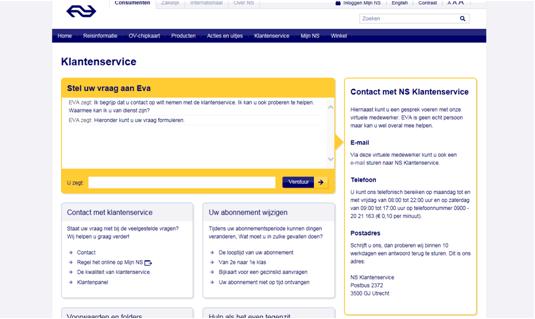 NS klantenservice