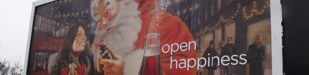 Reclamebord voor Coca Cola