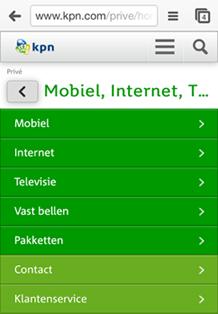 kpn.com: voorbeeld van adaptive