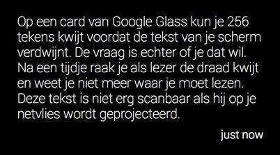 Google Glass hoeveel content