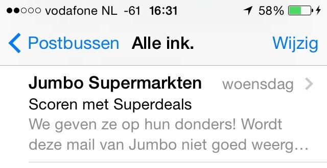 snippet jumbo maillist