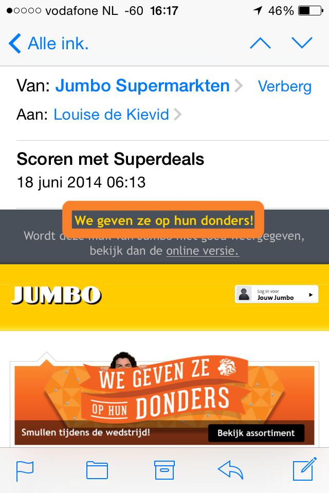 snippet jumbo e-mail