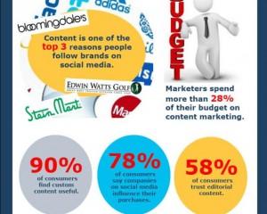 Infographic over de statistieken van contentmarketing