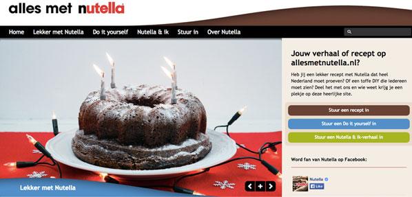 Alles met Nutella-website