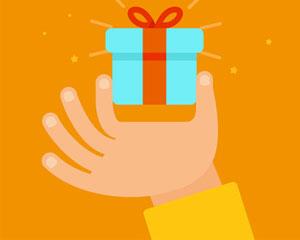 Hand met cadeau - Foto: Fotolia