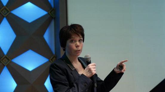 Joyce van Aalten over taxonomie tijdens ContentCafé #10 Foto: @contentcafe.