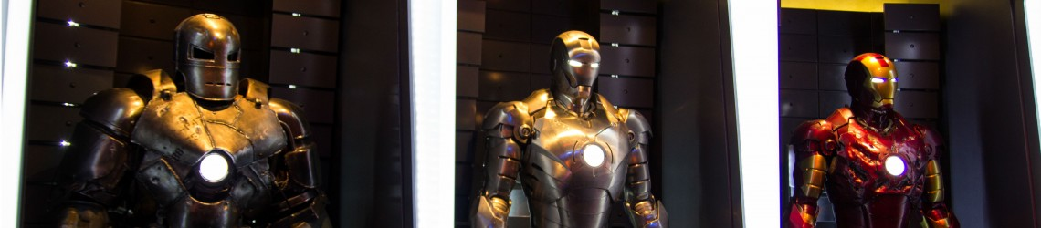 De drie Iron Man-pakken uit de films