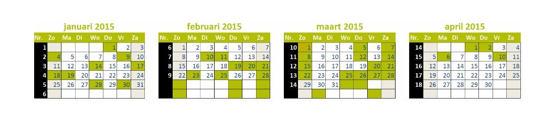 Voer de contentkalender succesvol in