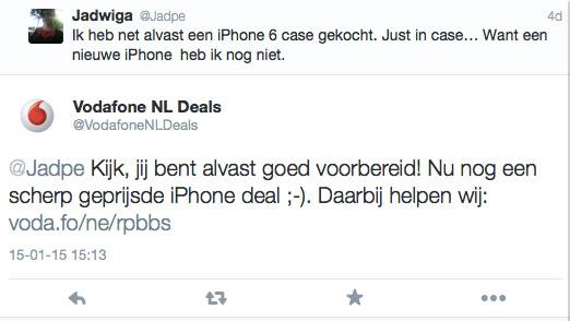 Social media houding en toon voorbeeld Vodafone deals