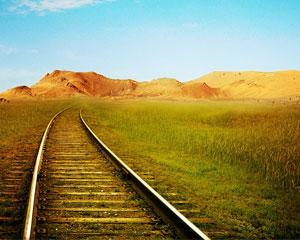 Spoor verdwijnt in de horizon