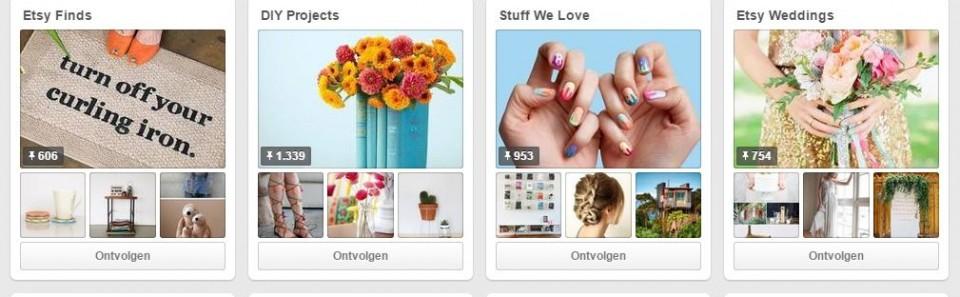 Pinterest voor bedrijven: Etsy als voorbeeld