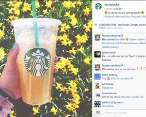 Instagram Starbuck voorbeeld