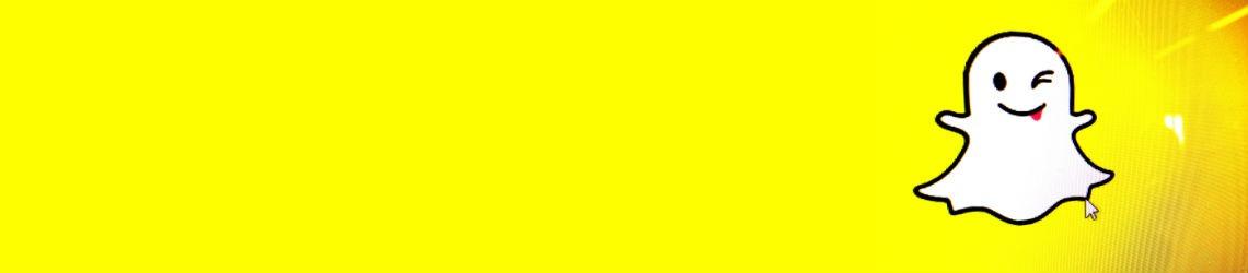 Snapchat logo met gele achtergrond.