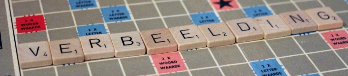 Verbeelding op Scrabblebord