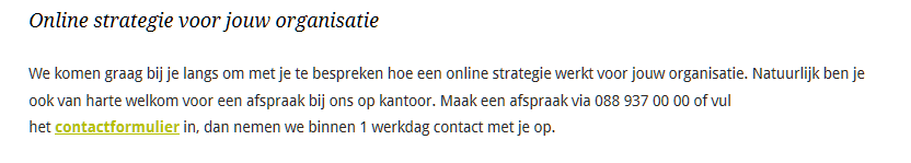 Call-to-action op Presenter.nl
