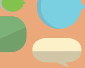 Afbeelding met verschillende speech bubbles.