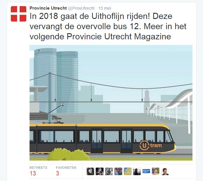 Contentmarketing bij de overheid: Provincie Utrecht Magazine over de Uithoflijn