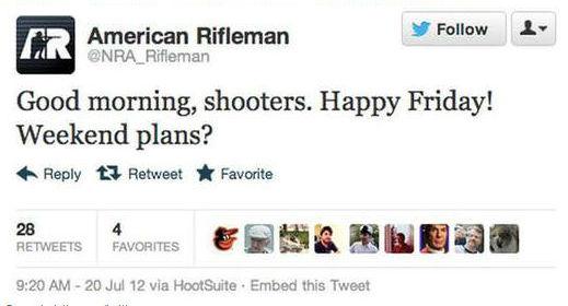 American Rifleman - Een paar uur na schietpartij in aurora