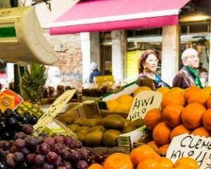 fruit op de markt