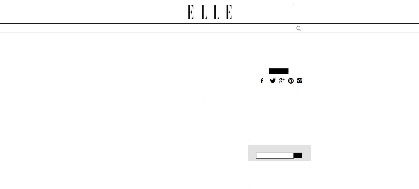 De website van Elle zonder content