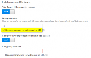 zoekparameters uitfilteren in Analytics.