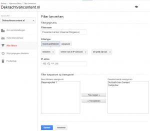 Op de Kracht van content filteren we verkeer vanaf Presenter uit op basis van het ip-adres.