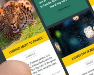 Online magazine op tablet