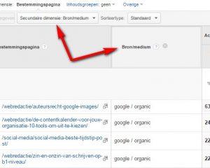 Een secundaire dimensie toevoegen in Google Analytics