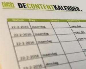 Handleiding contentkalender 2017