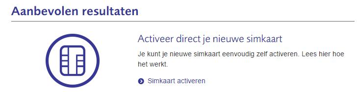 Aanbevolen zoekresultaat op telfort.nl