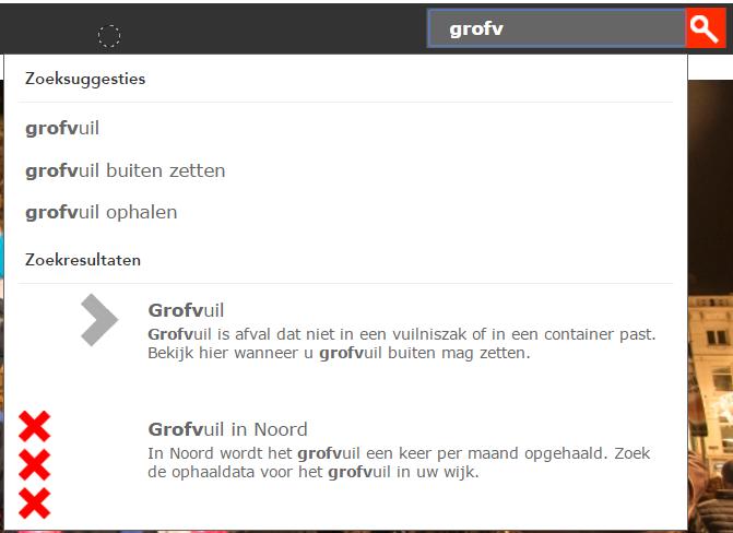 Automatische suggesties in interne zoekmachine op amsterdam.nl