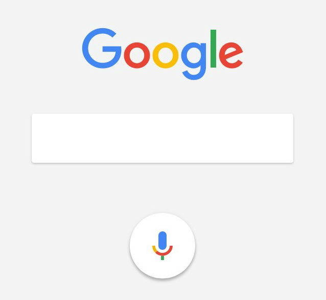 Startscherm Google op smartphone