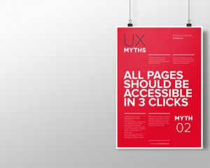 Poster: All pages should be accessible in 3 clicks
