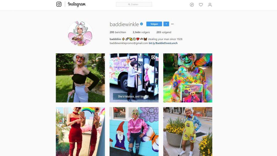 Contentmarketing screenshot Instagram Baddie Winkle