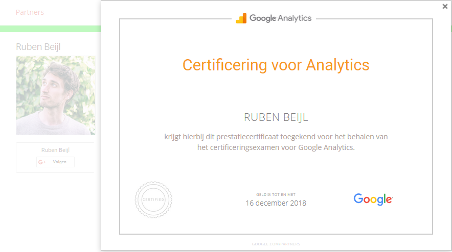 Google ANalytics Individual Qualification Ruben Beijl