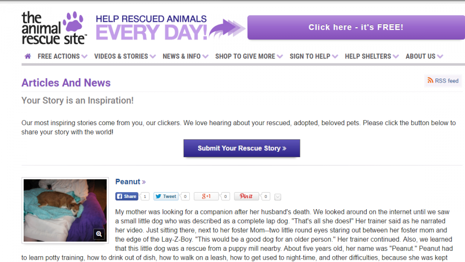 Screenshot The Animal Rescue Site