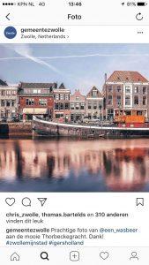 Instagrampost gemeente Zwolle