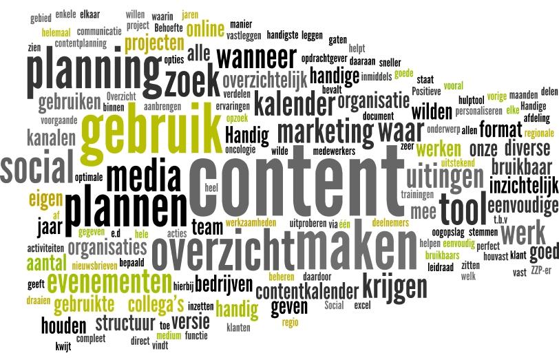 De contentkalender - waarom gebruik je hem?