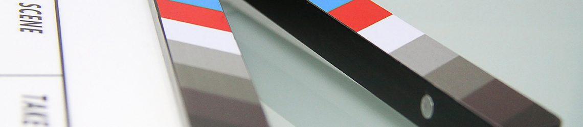 Closeup van een klapbord